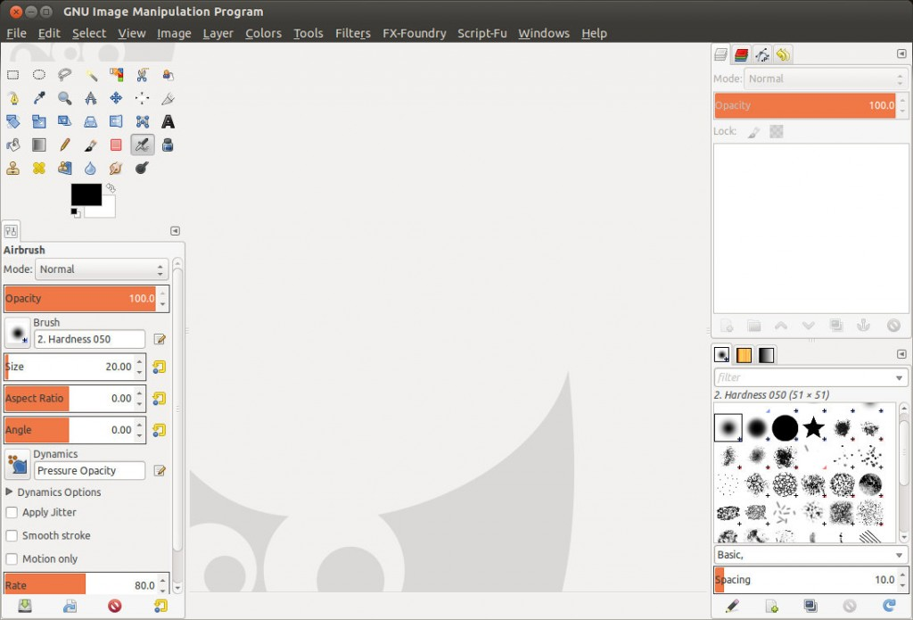 Gimp 2.8 in Single-Window Mode