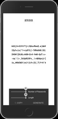 A progressive web app with pwgen.