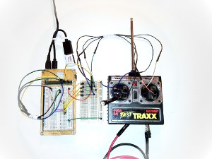 Fast Traxx remote control wired up to the Raspberry Pi